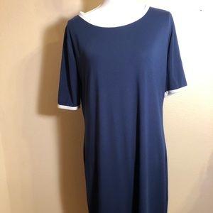 LulaRoe Navy Blue Shirt Dress
